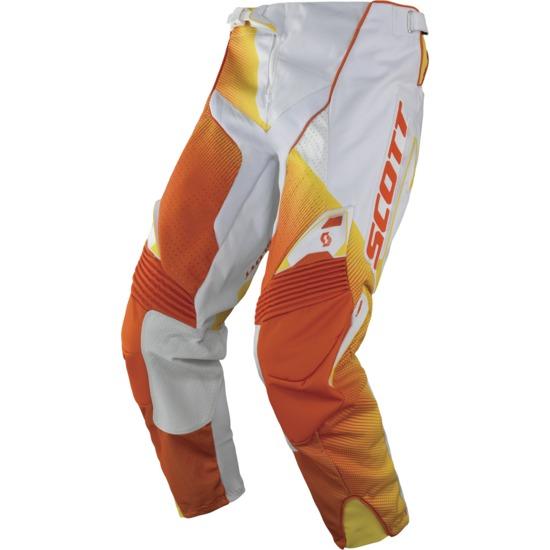 Pantaloni cross Scott 450 Fission Bianco Arancio