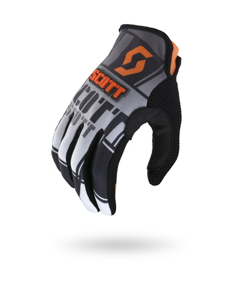 Cross Gloves Scott 350 Squadron Black Orange