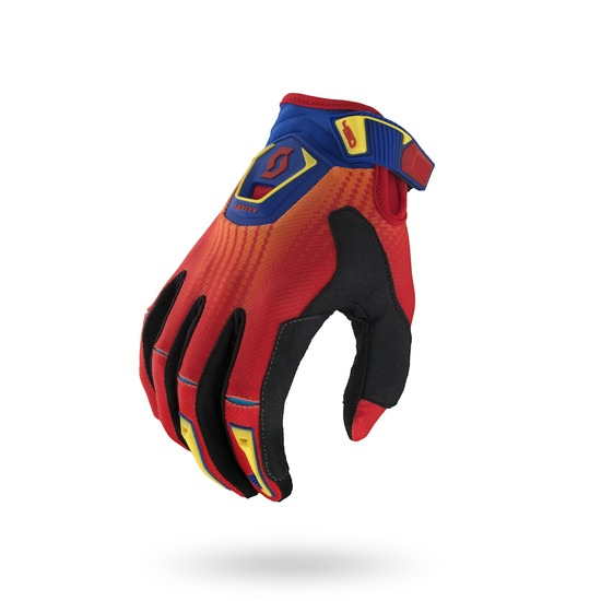 Gloves Scott 450 Fission Cross Red Blue