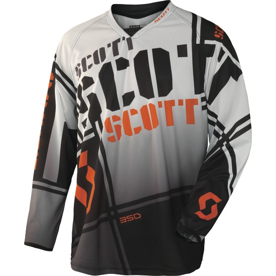Jersey cross baby Scott 350 Squadron Black White Kids