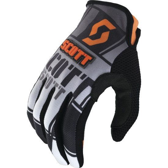 Gloves cross baby Scott 350 Squadron Kids Black Orange