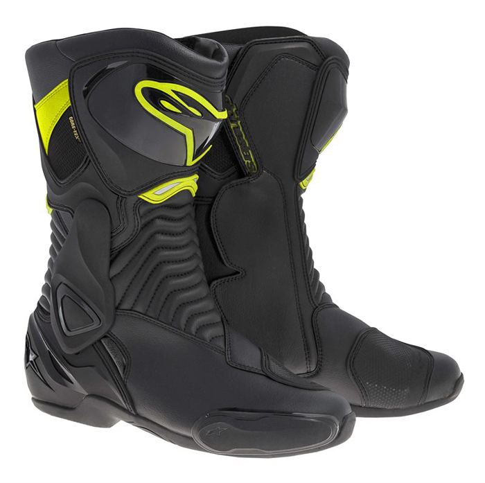 6 Boots Alpinestars SMX Gore-Tex Black Yellow Neon