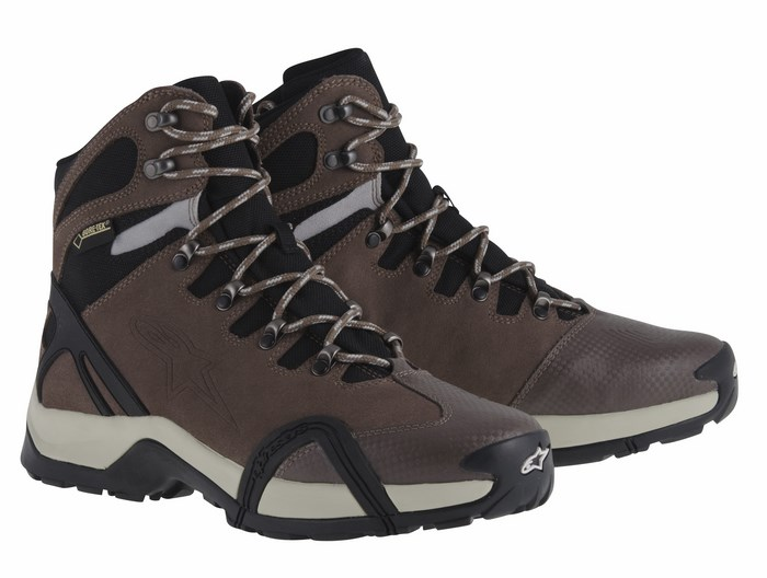 Alpinestars CR-4 Gore-Tex XCR shoes canteen mud