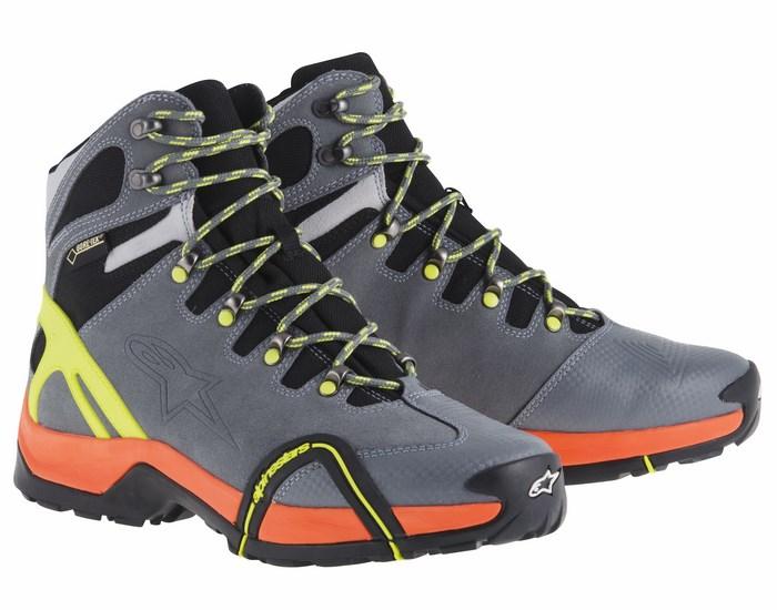Alpinestars CR-4 Gore-Tex XCR shoes grey orange yellow