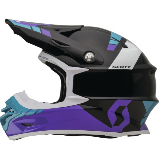 Casco cross Scott 350Pro Photon Viola Nero