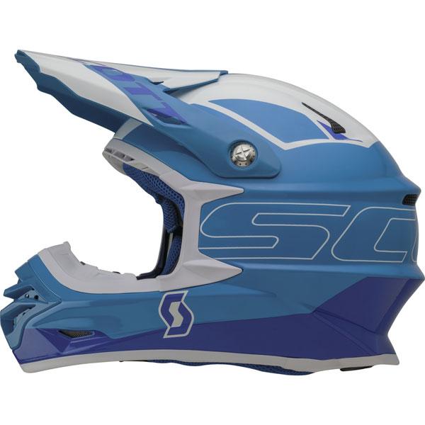 Scott 350 Helmet Cross Stratum Pro Blue White