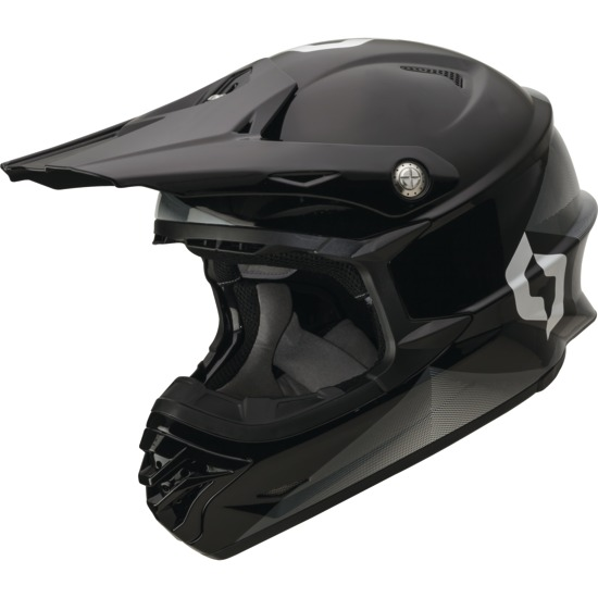 Fission cross helmet Scott Pro 350 Black White