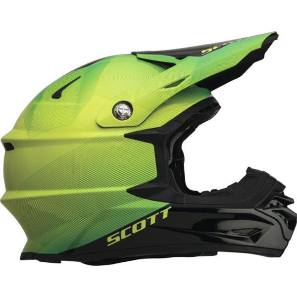 Casco cross Scott 350 Pro Fission Nero Verde
