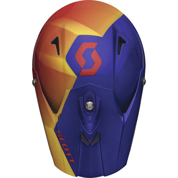 Fission cross helmet Scott Pro 350 Red Blue