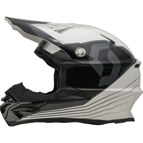 Cross helmet Scott ECE 350 Pro Slipstream Black White