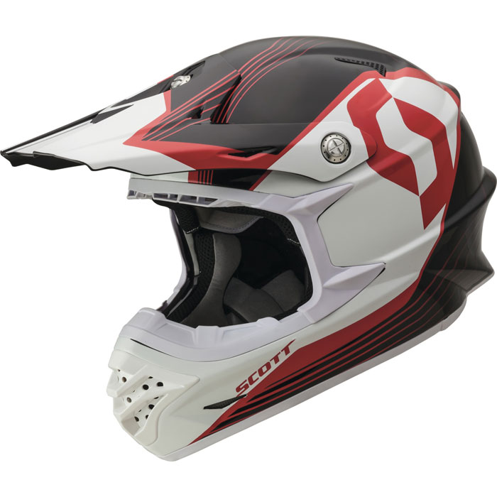 Cross helmet Scott ECE 350 Pro Slipstream Black Red