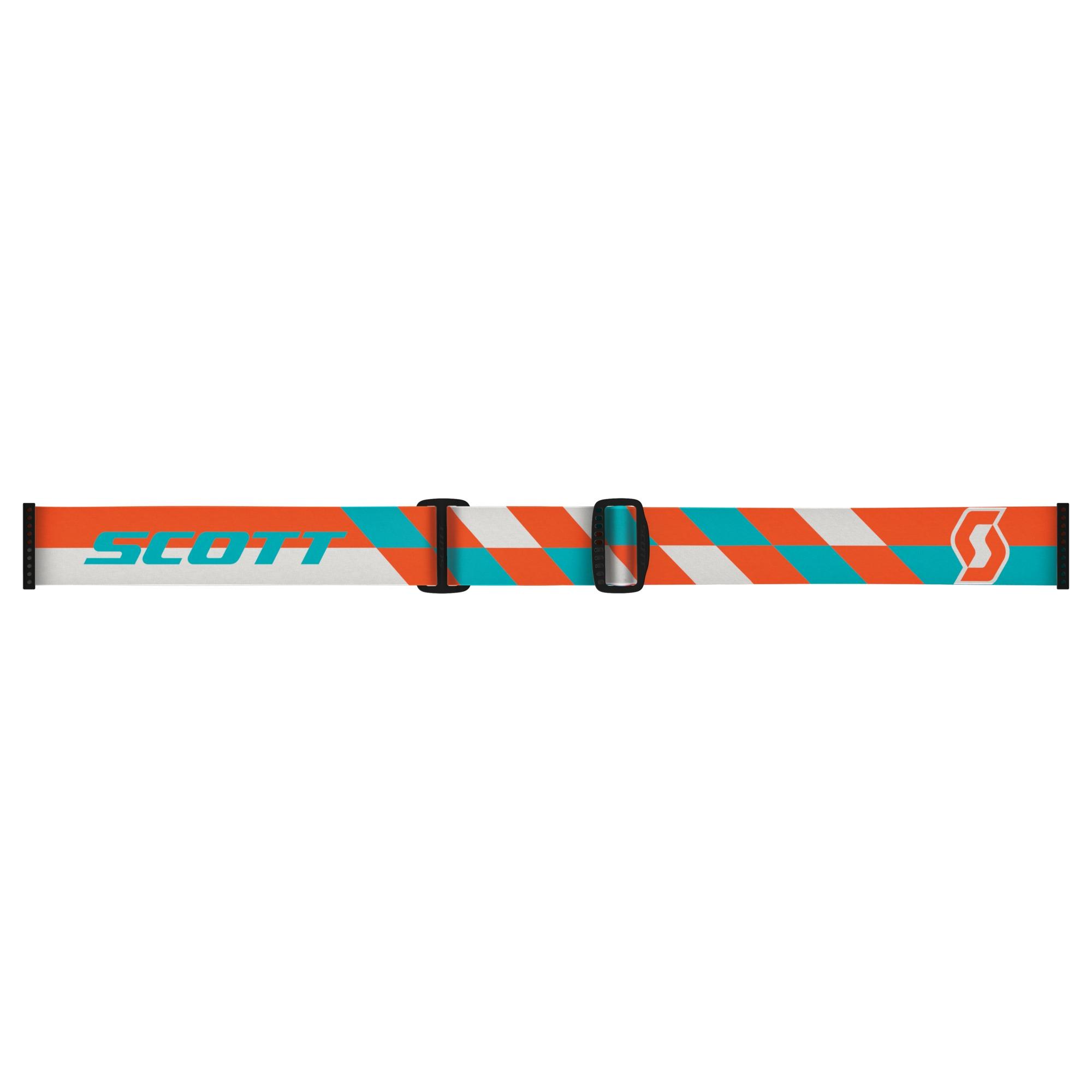 Scott Oxide Hustle MX cross goggles Orange Turquoise