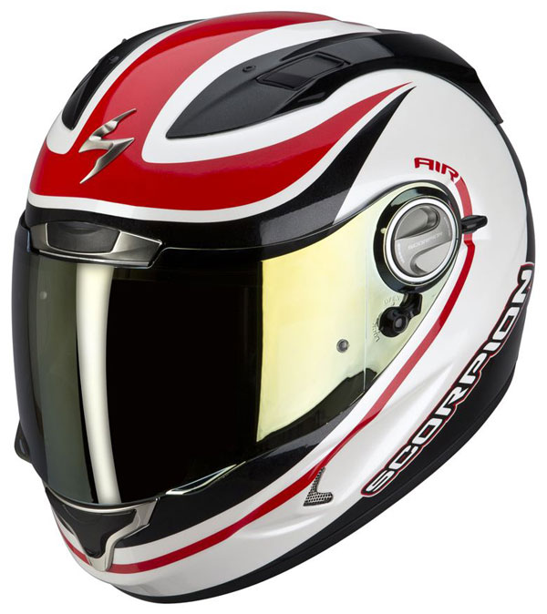 Full face helmet Scorpion EXO 1000 E11 Patriot Black White Red