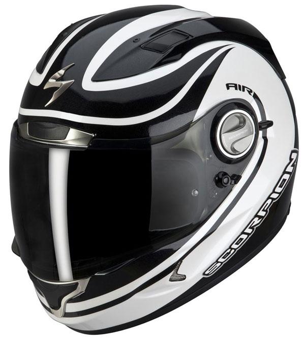 Full face helmet Scorpion EXO 1000 E11 Black White Patriot