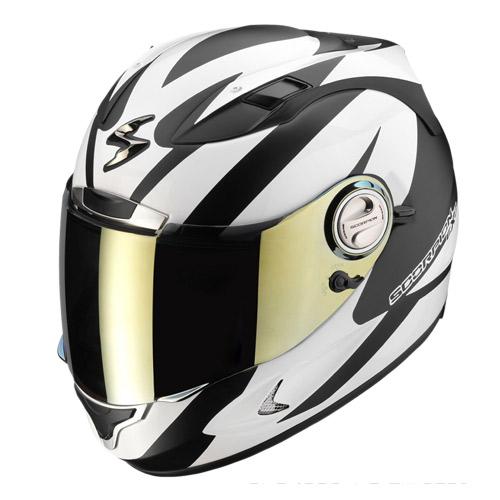 Casco integrale Scorpion Exo 1000 Air Twister Nero Opaco Bianco