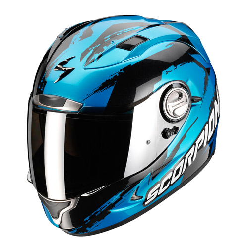 Casco integrale Scorpion Exo 1000 Air Milan Blu Nero