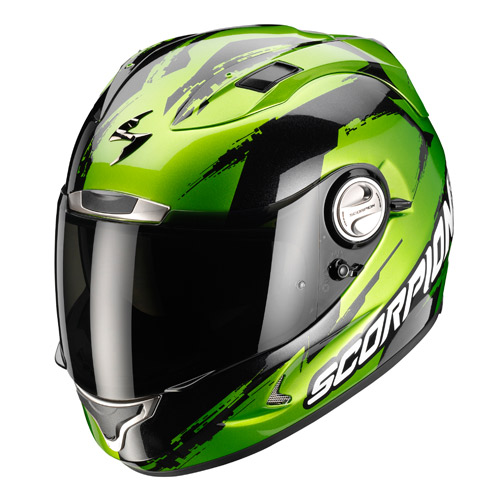 Scorpion Exo 1000 Air Milan full face helmet Green Black
