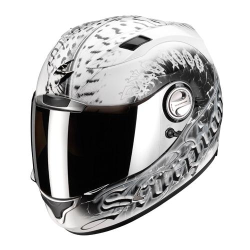 Casco integrale Scorpion Exo 1000 Air Darkness Bianco Nero
