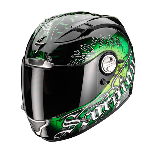 Scorpion Exo 1000 Air Darkness full face helmet Black Green