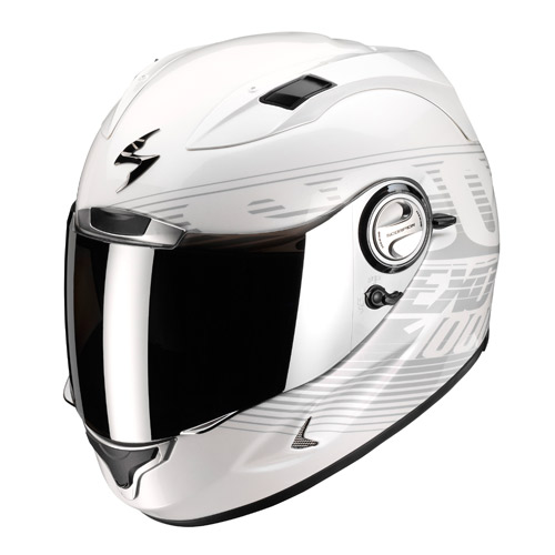 Casco integrale Scorpion Exo 1000 Air Phantom Bianco Camaleonte