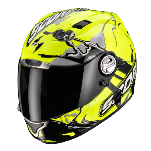 Scorpion Exo 1000 Air Splash full face helmet Neon Yellow