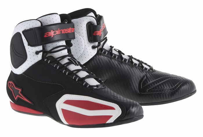 Alpinestars Faster Vented shoes black white red