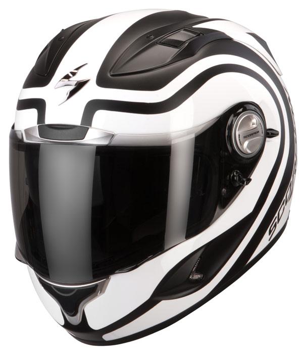 Scorpion Exo 1000 Air Round-Up full face helmet Matt Black White