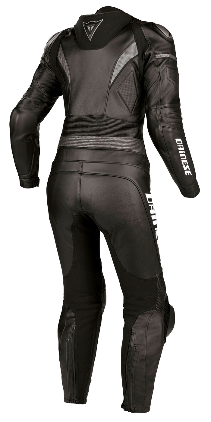 Dainese leather motorcycle suit woman Victoria Black Black Anthr