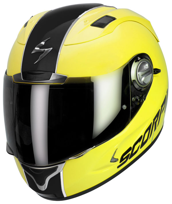 Casco integrale Scorpion Exo 1000 Splitter Giallo Fluo Nero