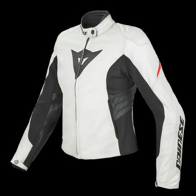 Women's leather motorcycle jacket Dainese Laguna Evo Lady Wh
