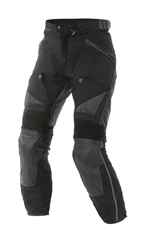 Pantaloni moto donna pelle tessuto Dainese Horizon Nero