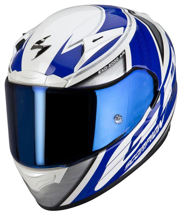 Casco integrale Scorpion EXO 2000 GP Air Blu Argento