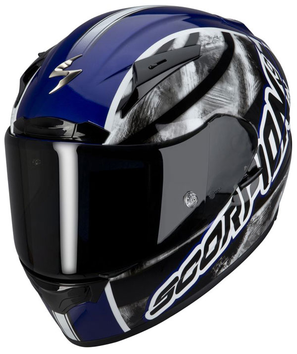 Casco integrale Scorpion EXO 2000 Sidewall Blu