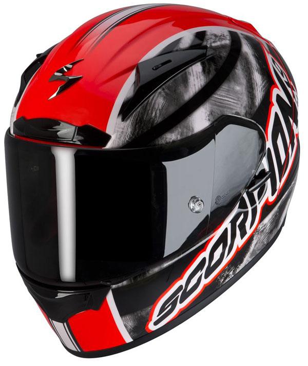 Full face helmet Scorpion EXO 2000 Sidewall Red neon