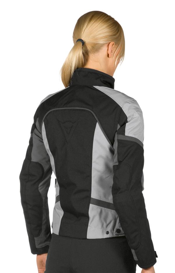 Dainese Xantum D-Dry Lady motorcycle jacket black-grey-high rise
