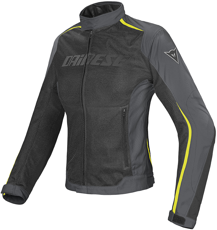 Dainese Hydra Flux D-Dry woman jacket Black Dark Gull Yellow