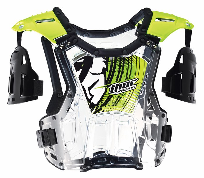 Thor Quadrant chest protector Flo Green