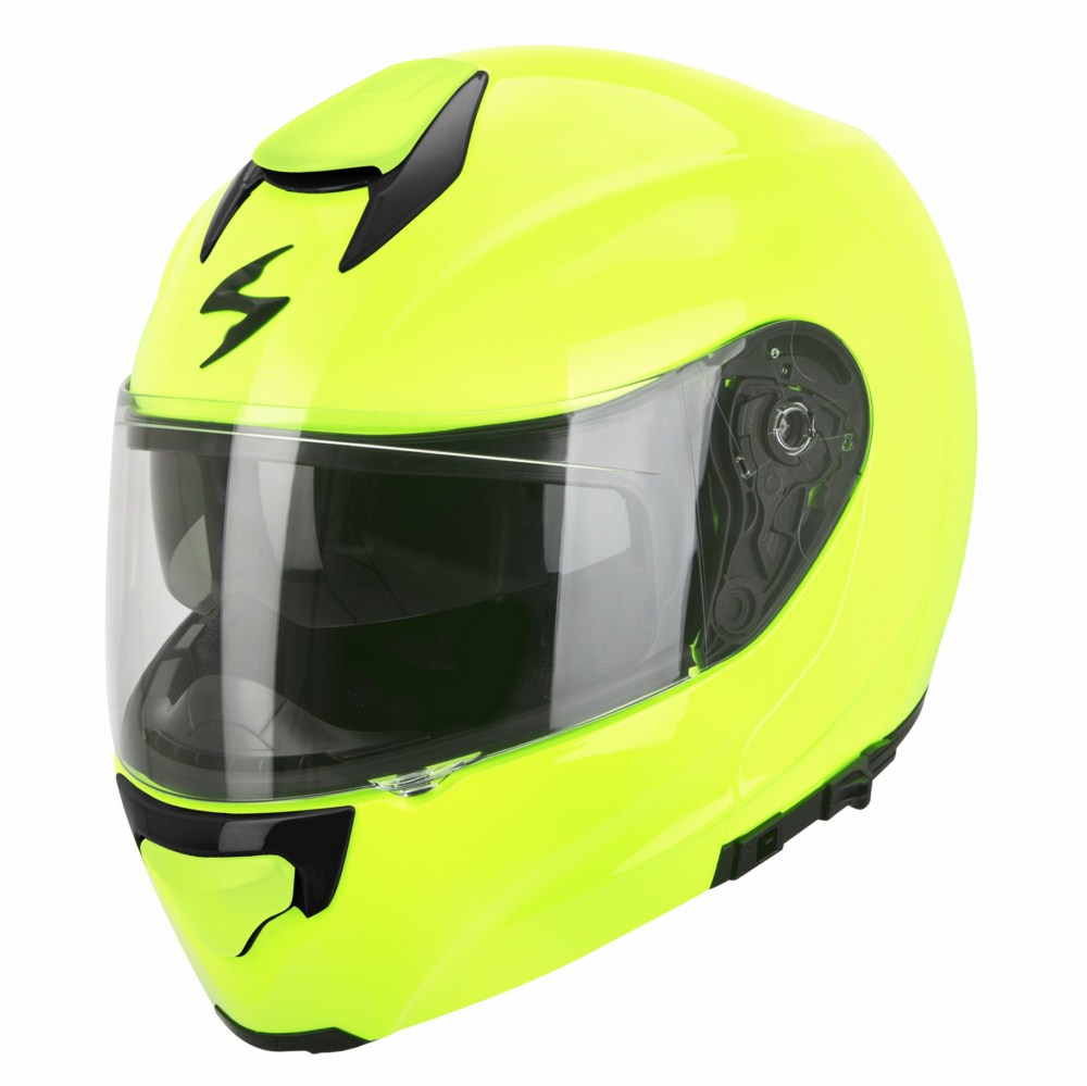 Casco modulare Scorpion Exo 3000 Air giallo neon lucido