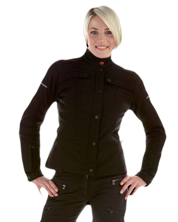 Dainese Gambler Tex Lady jacket black-black