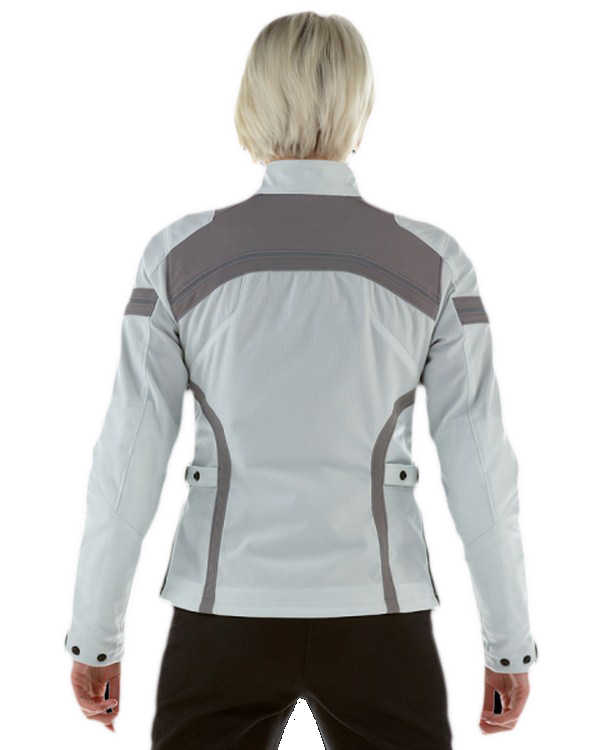 Dainese Gambler Tex Lady jacket light grey-magnesium