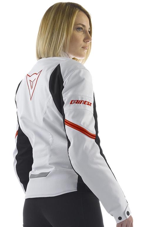 Dainese Racing Tex Lady women motorcycle jacket white-black