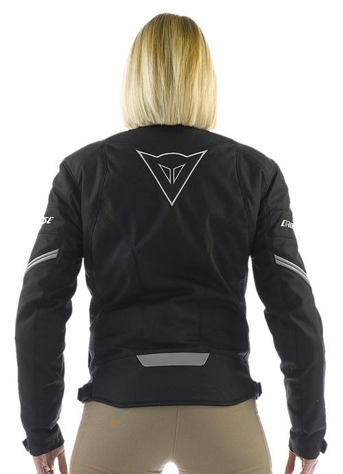 Dainese Racing Tex Lady women motorcycle jacket black-reflex