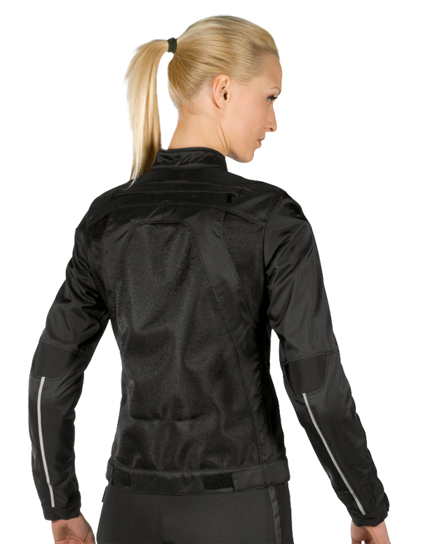 Dainese Air-Flux Tex Lady summer motorcycle jacket black