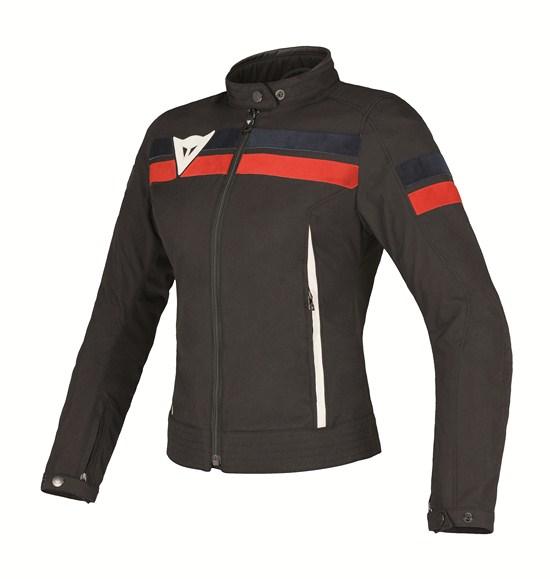 Dainese Vintage Tex Lady jacket black-blue-red