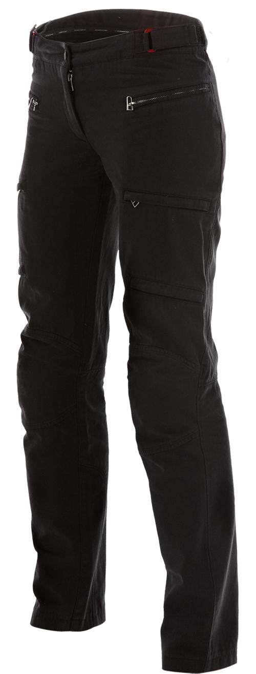 Pantaloni moto donna Dainese New Yamato Cotton Lady neri