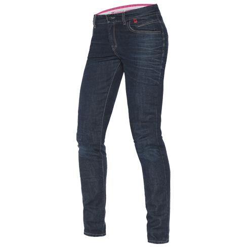 Jeans moto donna Dainese Belleville slim Denim medio