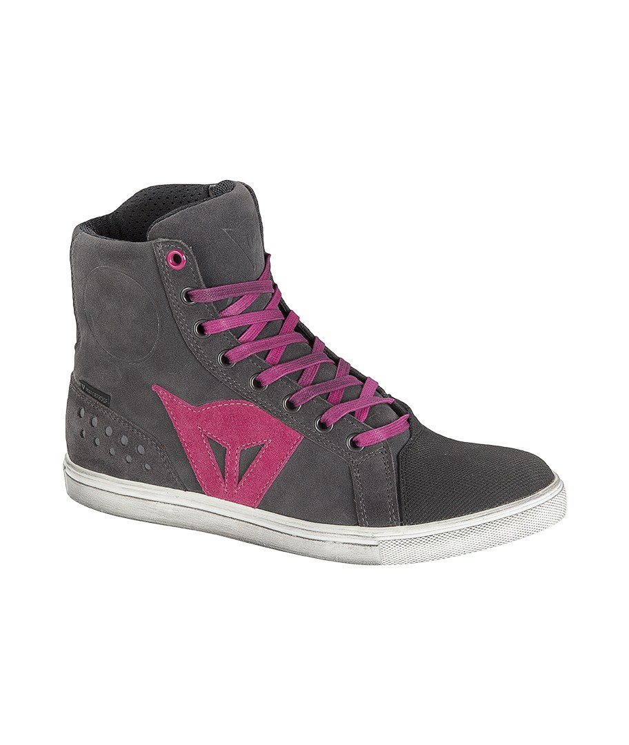 Dainese Street Biker D-WP woman shoes Anthracite Fuchsia