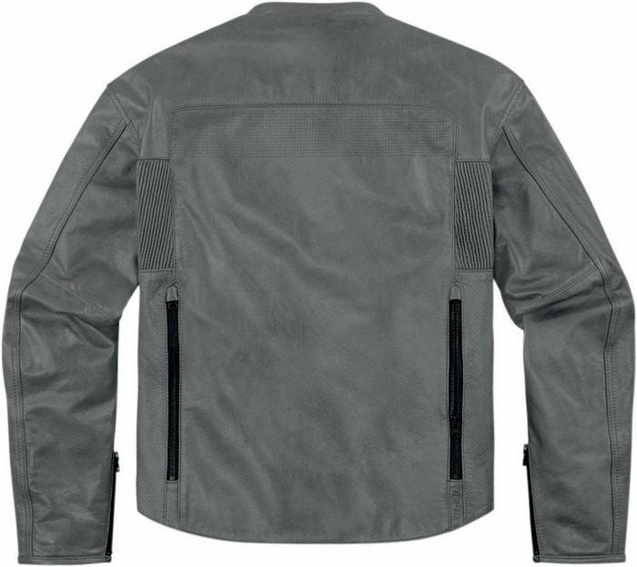 Leather motorcycle jacket Icon 1000 Chapter Grey