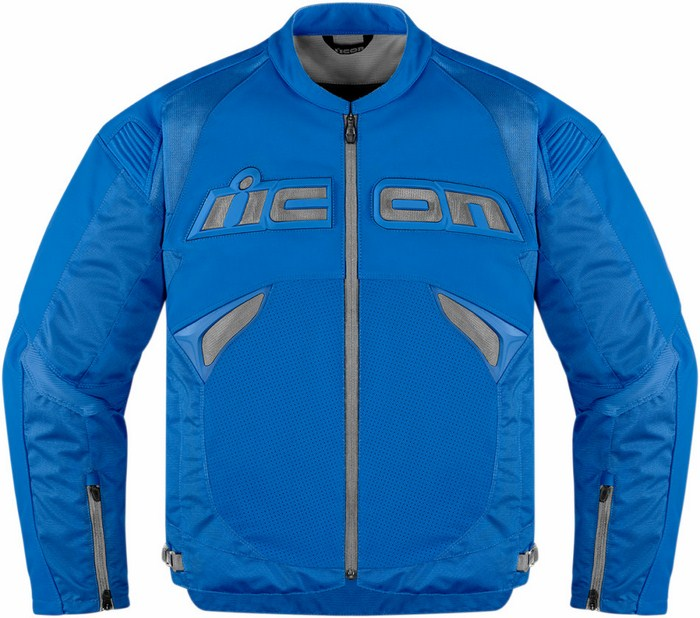 Giacca moto pelle Icon Sanctuary Blu