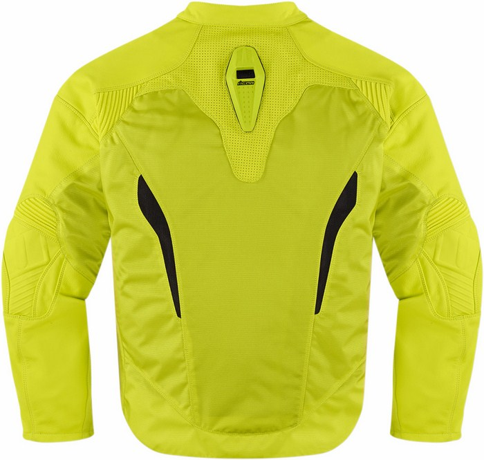 Leather motorcycle jacket fluorescent Yellow Icon Sanctuary